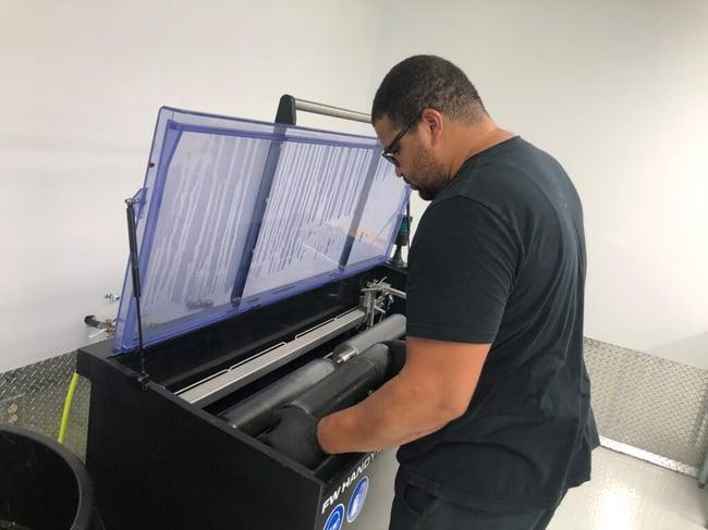 Flexo Wash Anilox Cleaner eliminates downtime