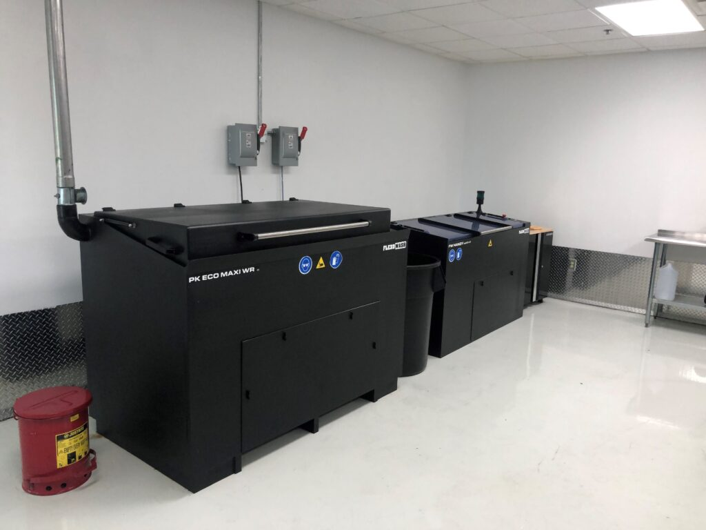 Flexo Wash anilox cleaner and parts washer eliminate downtime