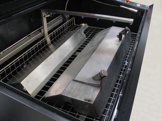 Flexo Wash Parts Washer Narrow Web interior
