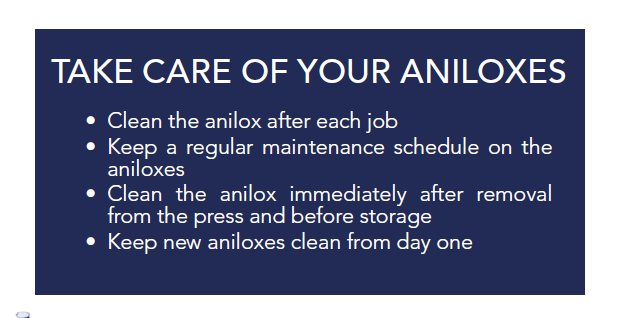 anilox cleaning